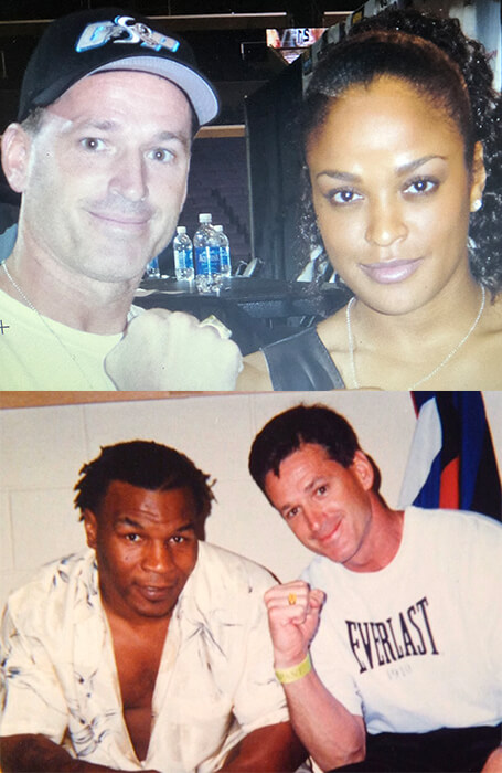 Coach Philbin and Laila Ali and Mike Tyson