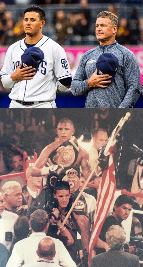 Coach Philbin and Manny Machado/Fernando Vargas